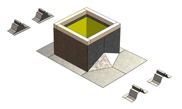 Description. Sloped Metal Roof Curbs ...